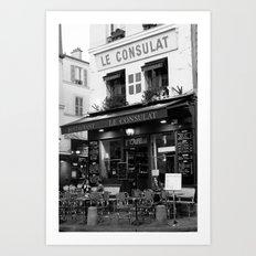 B&W Le Consulat Art Print