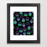 Cupcakes Curly Framed Art Print