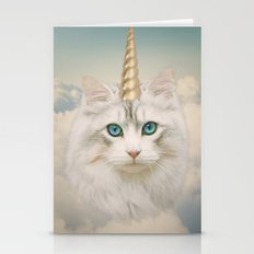 Unicorn Cat Sky Stationery Cards