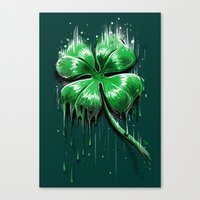 Melting Luck Canvas Print