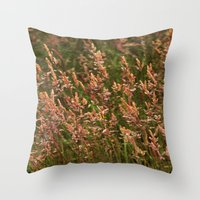 Grass Text Throw Pillow