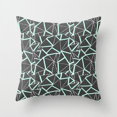 Ab 2 Repeat Mint Throw Pillow