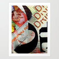 Abstract Newspaper Art Print