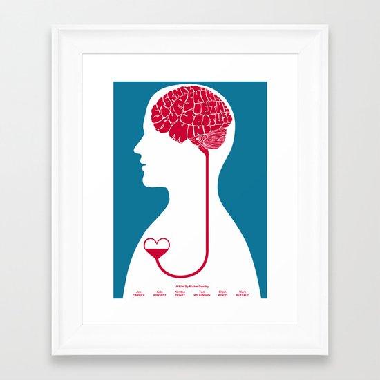 eternal sunshine of the spotless mind Framed Art Print
