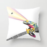 Frog Attack Throw Pillow