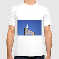 Brighton Bird Mens Fitted Tee White SMALL