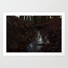 Red Stream Art Print