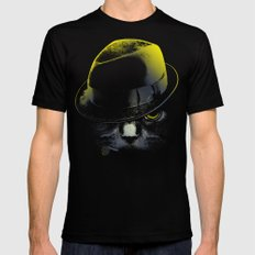The Alley Cat SMALL Black Mens Fitted Tee
