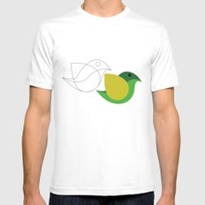 Bird is the word White Mens Fitted Tee SMALL