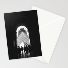 Through to Louvre (b&w) Stationery Cards