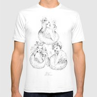 Christmas Fairies Mens Fitted Tee White SMALL