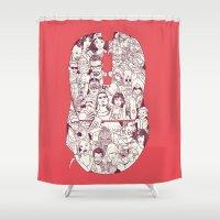 Adulthood Mash-Up Shower Curtain