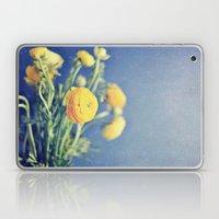 Ranunculus (on Blue) Laptop & iPad Skin