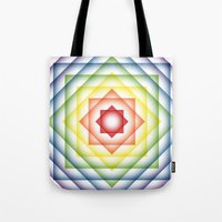 Tote Bag featuring ROY G BIV Overlay by rollerpimp