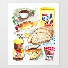 Le Petit Dejeuner (French Breakfast) Art Print