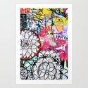mixed media doodles Art Print
