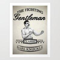 The Fighting Gentlemen Art Print