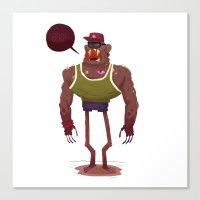 Monster. Canvas Print