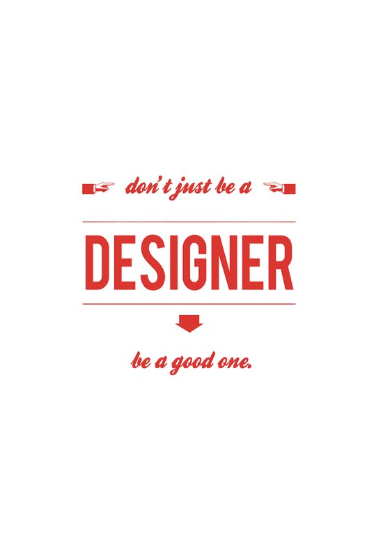 Don't just be a designer. Canvas Print