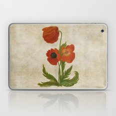 Vintage painting- Bunch of poppies Laptop & iPad Skin