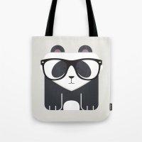 Hipster Panda Bear Art P… Tote Bag