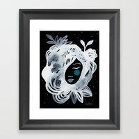 Miss Nuit Framed Art Print