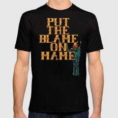 Put The Blame On Mame SMALL Black Mens Fitted Tee