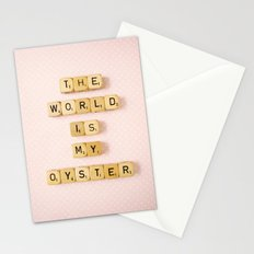 The World Is My Oyster Stationery Cards