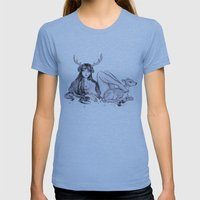 Cervidae Womens Fitted Tee Athletic Blue SMALL