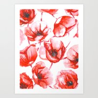 Flora Poppy Art Print