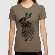 Rabbit Womens Fitted Tee Tri-Coffee SMALL
