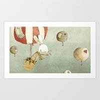balloon Art Prints featuring Balloon by Judith Loske