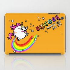 Unicorn made me do it! iPad Case