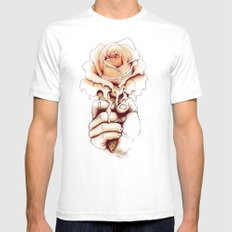 Rose a la Mode Mens Fitted Tee White SMALL