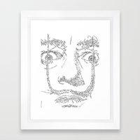 Salvador Dalì WordsPortrait Framed Art Print