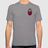 Pocket Dude (01) Mens Fitted Tee Tri-Grey SMALL