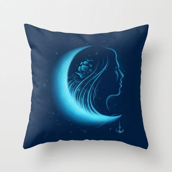 Moonlight Grace Throw Pillow