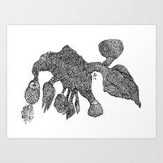 A Flower Dragon Art Print