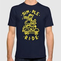 Simple Ride Mens Fitted Tee Navy SMALL