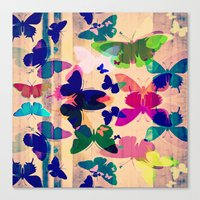Butterflies on board Canvas Print