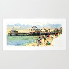 Santa Monica Seaside (this link works) Art Print