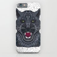 iPhone Cases featuring Modern Black Panther by ArtLovePassion