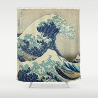The Great Wave Off Kanag… Shower Curtain