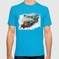 Keep Driving  Mens Fitted Tee Teal SMALL