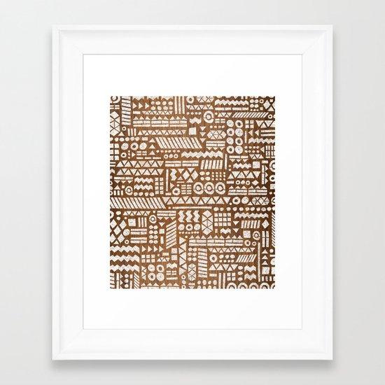 Northwoods Pattern. Framed Art Print