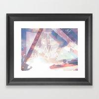 Triangulate Framed Art Print