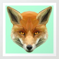 Poly The Fox Art Print