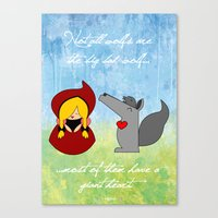 Little Red Riding Hood & Lovely Wolf ♥ Canvas Print