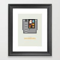 Super Mario Bros. Cartri… Framed Art Print