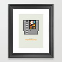 Super Mario Bros. Cartri… Framed Art Print